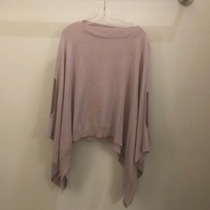 Lululemon dusty pink knit poncho sz o/s 72050